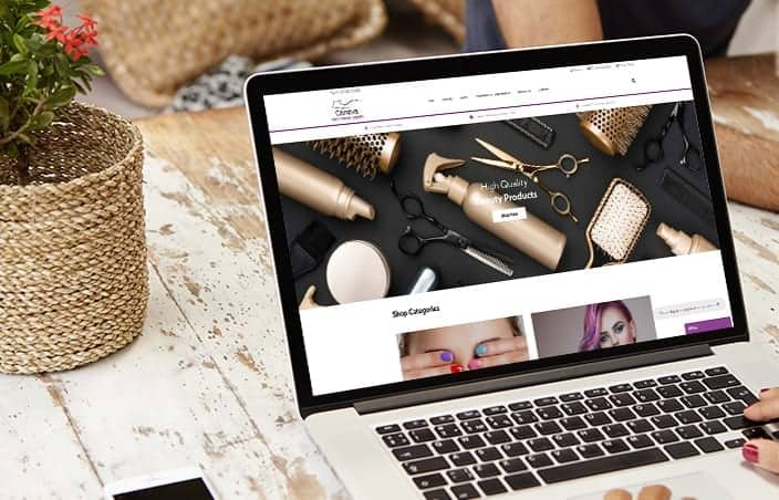 Carreva eCommerce website for beauty products