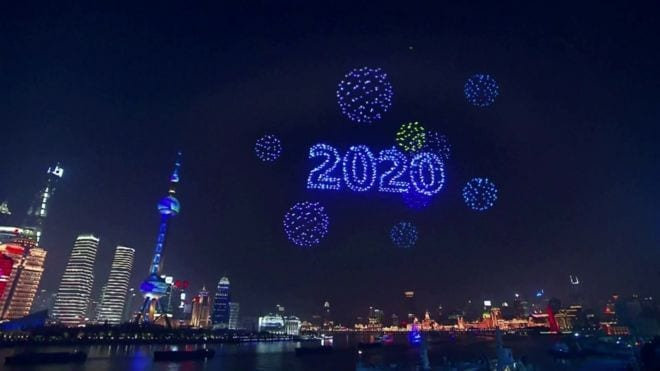 Shanghai Drone Display New Years Eve 2019